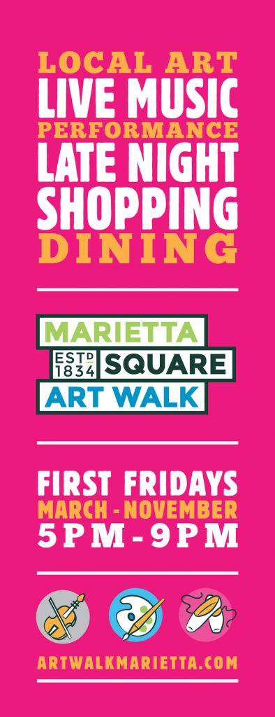 Marietta Square Art Walk First Fridays 5 -9pm